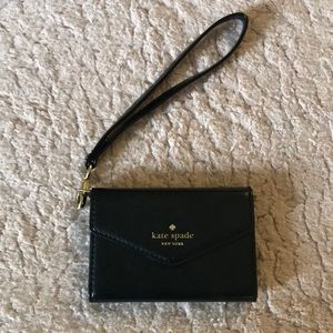 Black Leather Kate Spade Palm Case